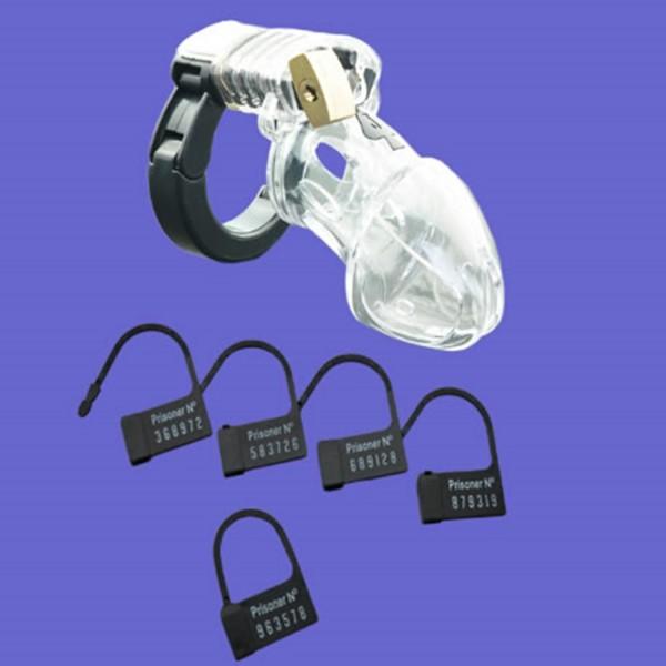 Transparenter Peniskäfig ❘ Größenverstellbarer Cockring