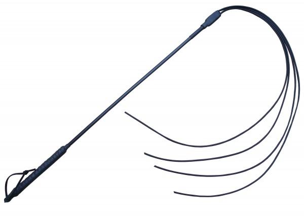 Fiese & harte Peitsche mit 4 langen Gummitails ❘ SM Shop