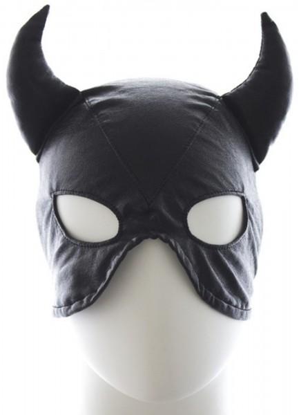 """Fetisch Haube """"Teufel"""" - Halbmaske aus Kunstleder - BDSM Maske"""