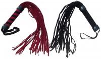 Softe Spanking Wildleder Peitsche in Rot oder Schwarz