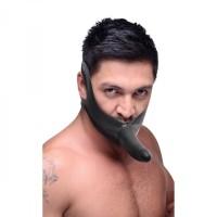 Face Fuck Dildo Knebel aus hochwertigem schwarzen Latex