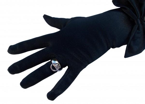 Gerundeter BDSM O-Ring Edelstahl