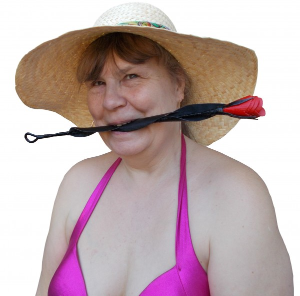 Edle Rose aus echtem Leder - BDSM Zubehör und SM Accessoires