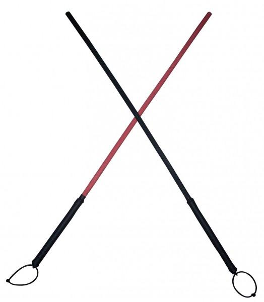 Farbiger Peddig Rohrstock in Rot oder Schwarz ❘ SM Toy
