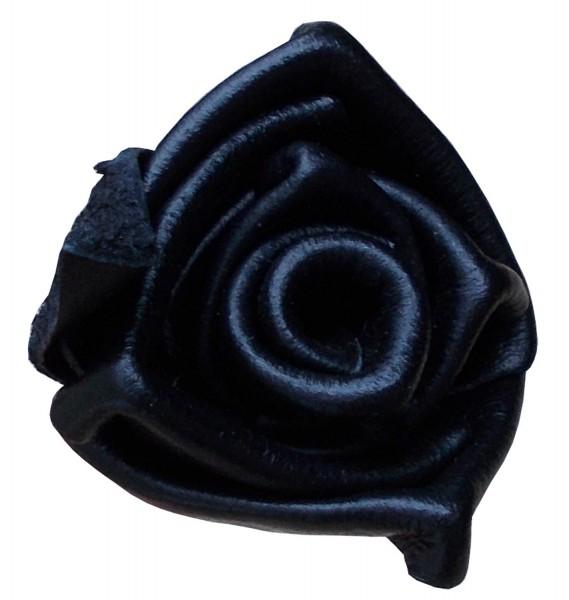 Kleine schwarze Rose aus Leder - Fetisch & BDSM Zubehör