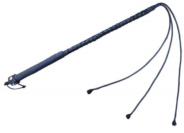 Schwarze 3 Tails Striemen Peitsche ❘ Kunststoffpeitsche