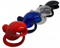 Peniskäfig aus Kunststoff - Keuschheitsschelle in vier Farben
