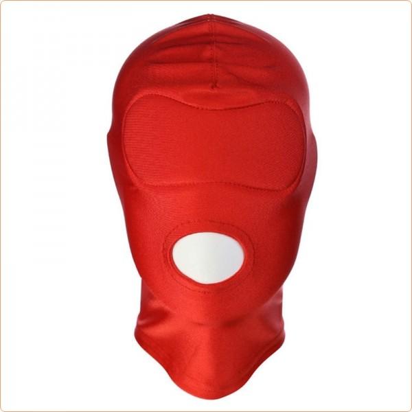 Weiche Stoffmaske mit Mundöffnung - BDSM Haube