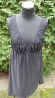 Neglige mit schwarzer Spitze - raffiniertes Kleidchen in XXL Größe