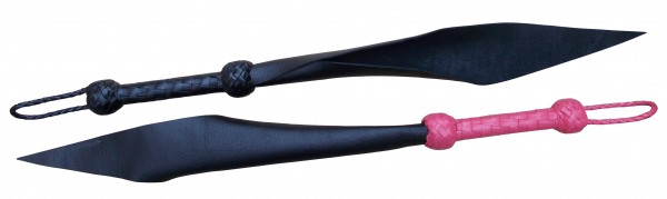 SM Lederpeitsche - Single Tail mit rosa oder schwarzem Griff
