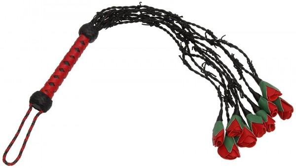 Ausgefallene Leder Rosenpeitsche ❘ Lederrosen Whip