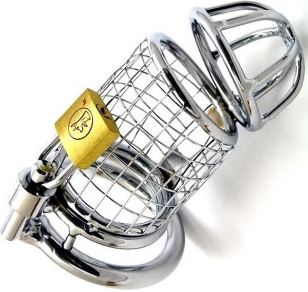 Metall Gitter Keuschheitskäfig für Ihn ❘ Penisschelle