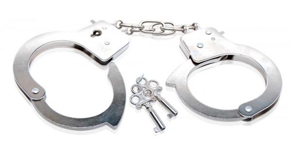 Günstige Metall Handschellen - Fesseln mit kleiner Verbindungskette
